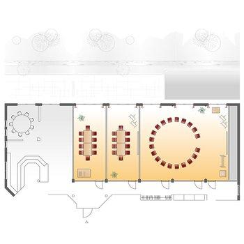 Seminarraum Riedblick - Stuhlkreis + 2 Gruppenräume