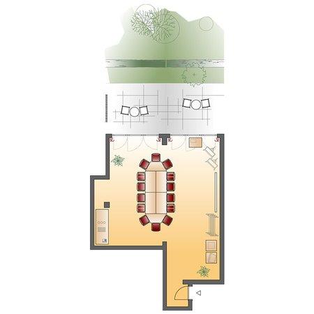 Seminarraum Gartenzimmer - Blockbestuhlung