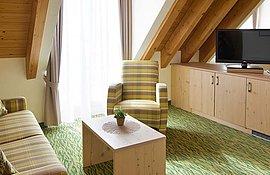 Junior Suite Wohnbereich - Landhotel Alte Mühle Ferienregion Nördlicher Bodensee