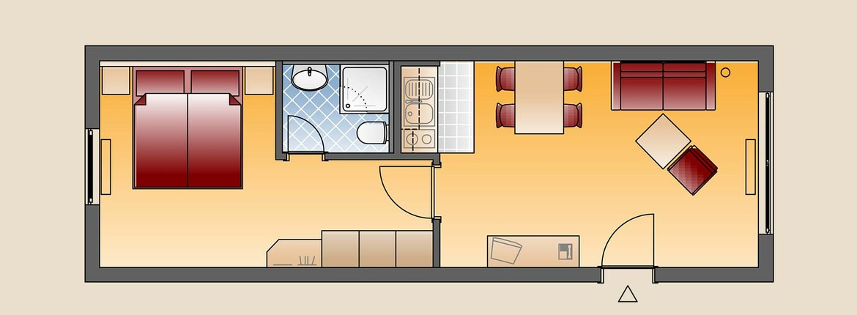 Appartement Hagnau Skizze - Landhotel Alte Mühle Ferienregion Nördlicher Bodensee