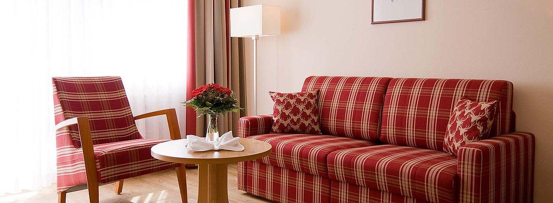 Doppelzimmer Landhaus Wohnbereich - Landhotel Alte Mühle Ferienregion Nördlicher Bodensee