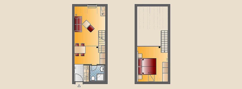 Appartement Illmensee Skizze - Landhotel Alte Mühle Ferienregion Nördlicher Bodensee