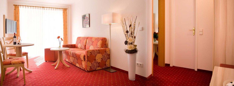 Suite Großer Tauben Wohnbereich - Landhotel Alte Mühle Ferienregion Nördlicher Bodensee