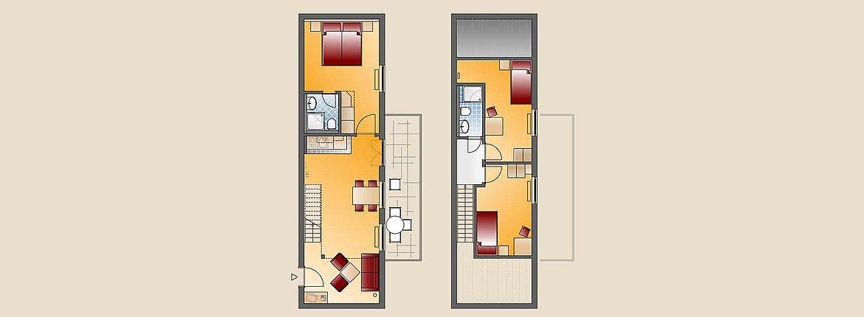 Skizze Appartement Pfänder Doppelzimmer